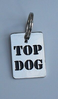 DOG TAGS - HARD WEARING QUALITY HAND ENGRAVED TAGS TOP DOG - I'M CHIPPED