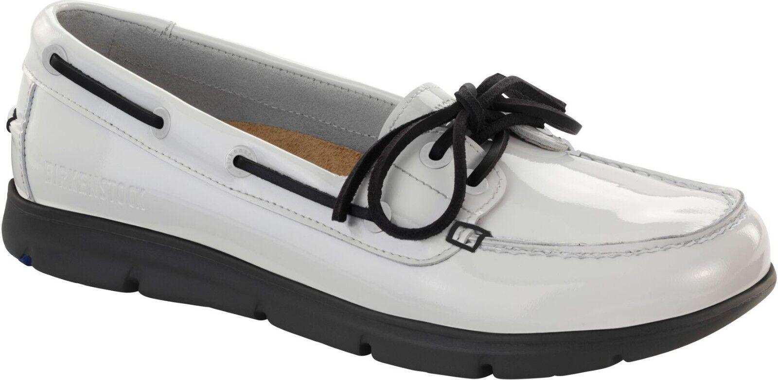 Birkenstock Tennessee Weiß Lack Leder - Größe 38 Fußbett schmal - Leder 3b55ca