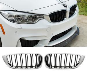 BMW F32 F33 F36 M4 Negro Mstyle look cromo Riñón Rejilla Rejillas tablilla de doble