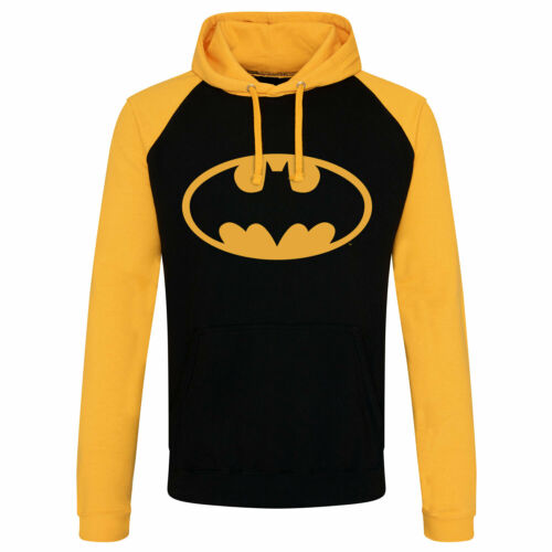 Officially Licensed Batman Signal Logo Baseball Hoodie S-XXL Sizes