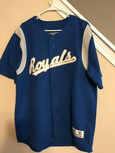 wholesale dealer 6dd84 6a13f Details about Vintage Kansas City KC Royals MLB Baseball Jersey True Fan  Retro Men's L