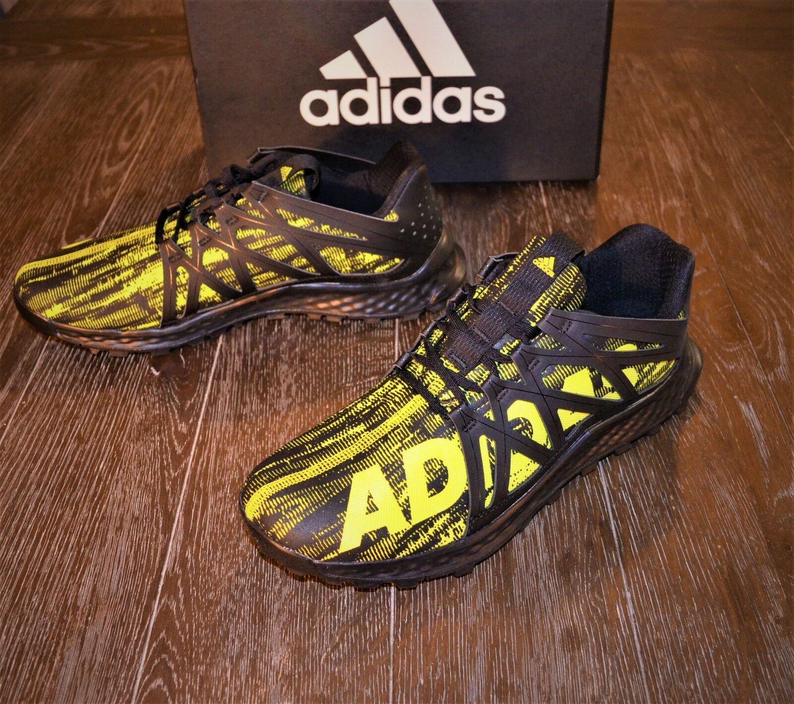 BRAND NEW ADIDAS VIGOR BOUNCE MEN'S TRAIL RUNNING SHOES SIZE 12 BLACK  BB8380 The most popular shoes for men and women