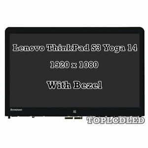 "14"" Lenovo Thinkpad S3 Yoga 14 20DM008UUS LCD LED Touch Screen Bezel Assembly"