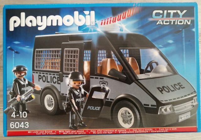 Playmobil 6043 - Polizei-Mannschaftswagen mit Licht und Sound Neu & OVP