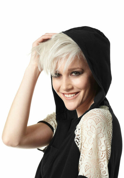 Kapuzen-Shirt Hoodie mit Spitze. Material Girl. Schwarz. NEU!!! SALE%%%
