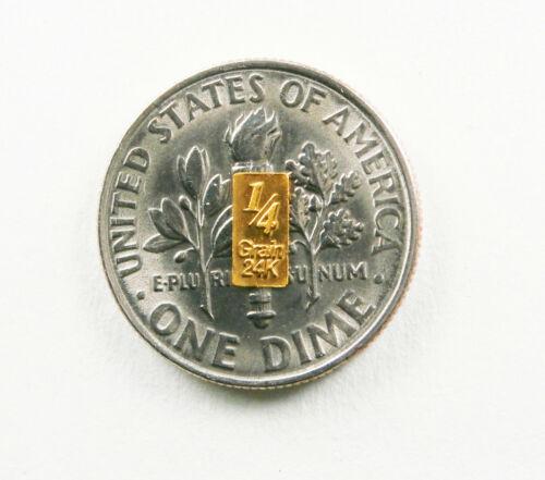 1//60th gram gold pure 24k 3mm X 6mm fractional gold 999 FINE bullion bar D7a