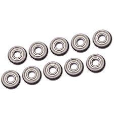 Us Stock 10pcs F695zz Mini Metal Double Shielded Flanged Ball Bearings 5x13x4mm
