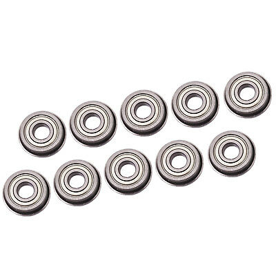 US Stock 10pcs F683zz Mini Metal Double Shielded Flanged Ball Bearings 3x7x3mm