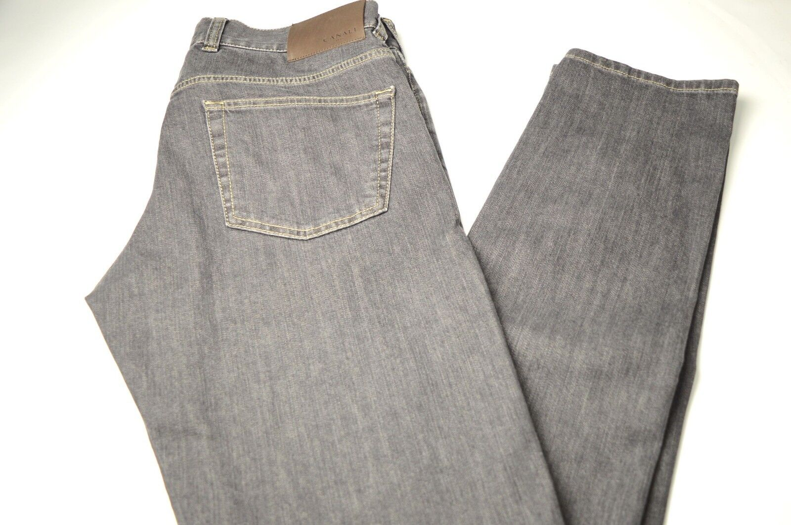 New CANALI Cotton Denim bluee Jeans  Size  40 Us 56  Eu  Made in  Cod 17