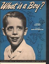What is a Boy 1951  Sheet Music