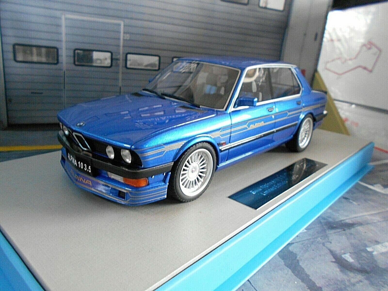BMW serie 5er b10 3.5 BITURBO alpina 1989 BLU BL e24e28 LS Collectibles 1 18