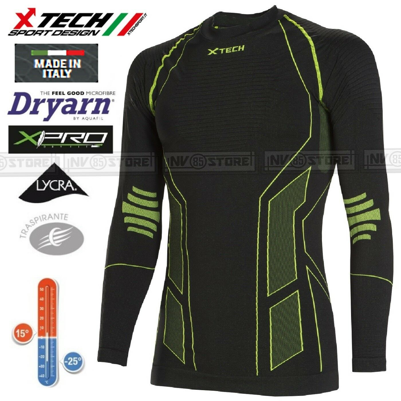 Maglia XTECH Tecnica Termica X-TECH TITANIUM -25° Thermal Shirt Made in  BK
