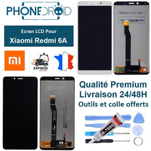 Ecran-complet-LCD-tactile-Xiaomi-Redmi-6A-Outils-et-colle-stock-FR