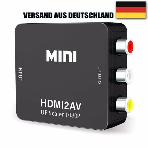 DE 1080P HDMI zu AV Konverter HDMI Auf Cinch Adapter HDMI TO AV Converter DHL