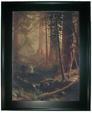Bierstadt Giant Redwood Trees of California 1874-Black Framed Canvas Print 25x34