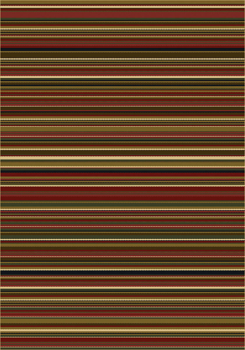 4x6 Milliken Canyon Dark rot Casual Striped Area Rug - - - Approx 3'10 x5'4  8a03c7