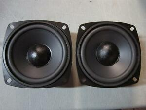 """2 NEW 4/"""" Woofer Speakers.Shielded.8 ohm.Pin Cushion four inch.Replacement.PAIR"""