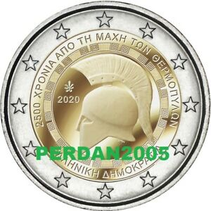 GRECIA-2020-2-EURO-2500-ANNI-BATTAGLIA-DELLE-TERMOPILI-GREECE-FDC-UNC