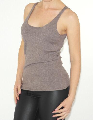 Glitzer Hemd Bluse Blouse Top Shirt ohne Ärmel Ärmellos weich stretch