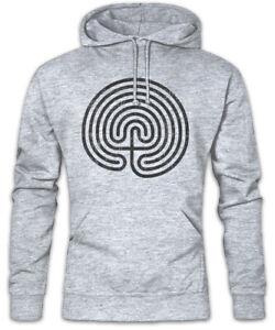 Hoodie Mystic Hypnotize Cretan Labyrinth Hoodie Maze Spiral Hypnosis EqxxwZvTB