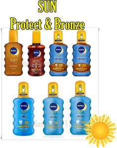 NIVEA-SUN-PROTECT-amp-BRONZE-Tan-attivazione-lozione-o-OLIO-SPRAY-SPF-200-ML-Tonalita