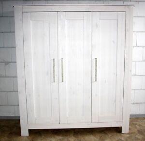 Baby Kleiderschrank Kinderzimmer Kinder Schrank weiß 3türig Holz ...