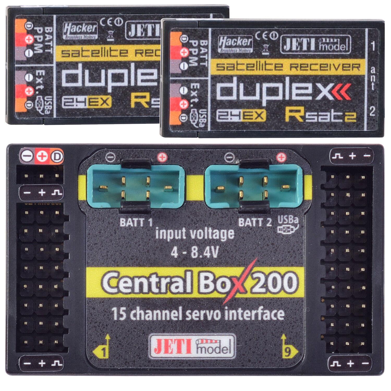 Duplex 2.4EX Central Box 200 Incl. 2 X Rsat2 Jetimodel J CB 200 RS 80001601