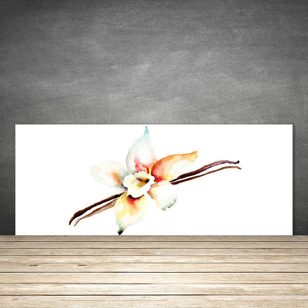 Crédence de cuisine en verre Panneau 125x50 Art Fleur