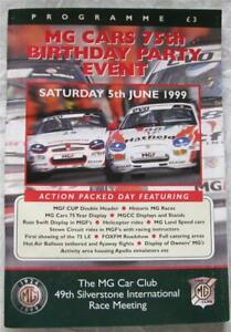 SILVERSTONE 5 Jun 1999 MG Cars 75th Birthday Party Official Programme