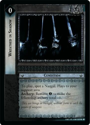 LoTR TCG FoTR Fellowship Of The Ring Wreathed In Shadow FOIL 1U238