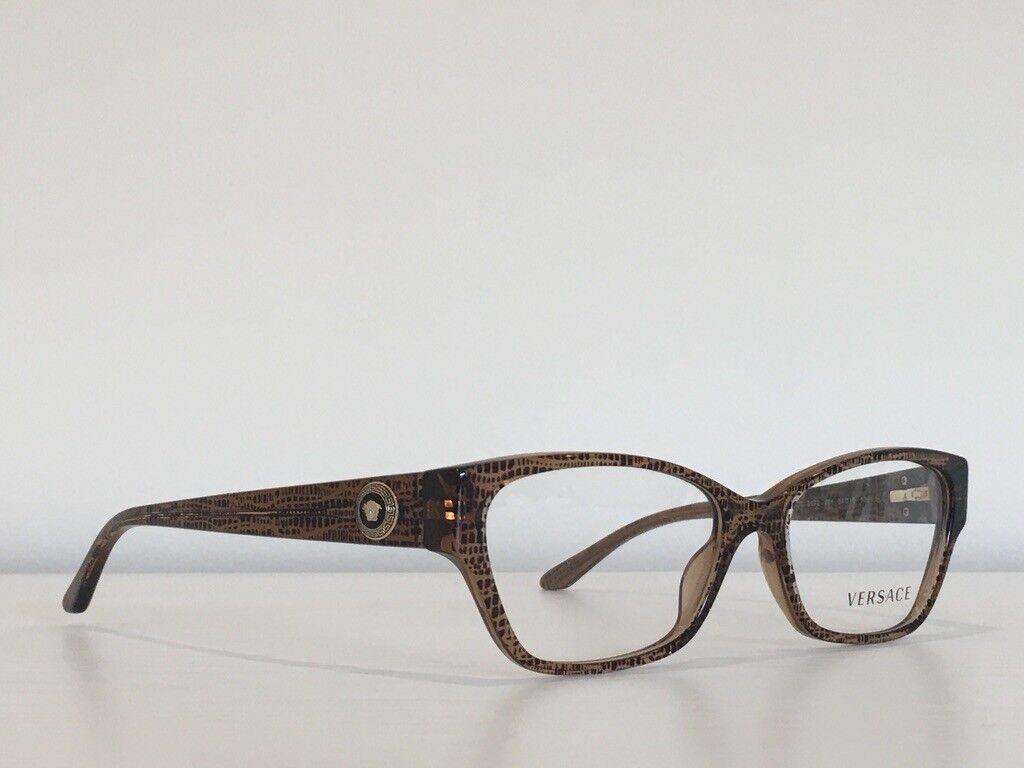 10 Versace MOD 3172 991 Spotted Brown Rectangle Medusa Frame Eyeglasses54*16*135