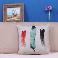Fashion Home Art Decor Peacock Feather Sofa Bed Decor Pillow Case Cushion Cover