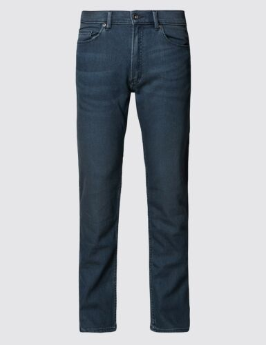 Mens Ex M/&S Marks and Spencer Collection Straight Leg Stretch Jeans RRP £39.50