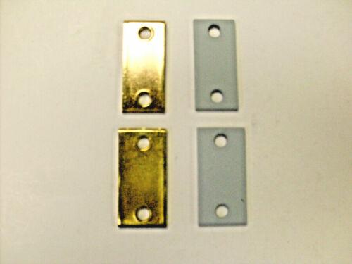 "Lot of 2 in brass or prime coat in 1/"" /& 1 1//8/"" width Don Jo Latch filler plates"