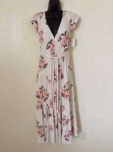 32060461de0 NWT Free People  168  All I Got Maxi Dress Ivory Size 0