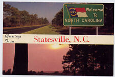 STATESVILLE NC early Views Greetings Welcome Sunset postcard
