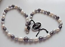 """HONORA FRESHWATER PEARL GRADUATED RINGED PEARL NECKLACE 20"""" TUXEDO NECKLACE NEW"""