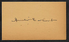 Amelia Earhart Autograph Reprint On Old 3X5 Card