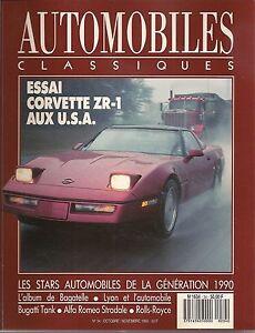 AUTOMOBILES CLASSIQUES 34 CORVETTE ZR1 ALFA ROMEO STRADALE 33 BUGATTI 57G 1936
