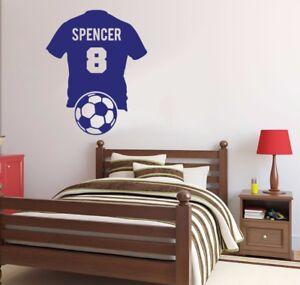 Image Is Loading Football Shirt Soccer Wall Sticker Kid Boys Room