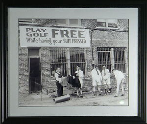 FREE-GOLF-While-You-Wait-Framed-Classic-Golf-Photograph-11-x-14-OR-16x20