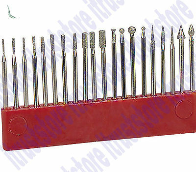 """1//8"""" 20-pc CARBIDE BURR SET die grinder burrs double cut metal grinding bits"""