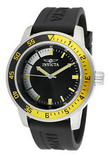 """Invicta Men's 12846 """"Specialty"""" Stainless Steel Watch with Black Rubber Strap"""