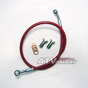 Streamline-Red-Rear-Brake-Line-Steel-Braided-Honda-TRX-400EX-400X-TRX400-All