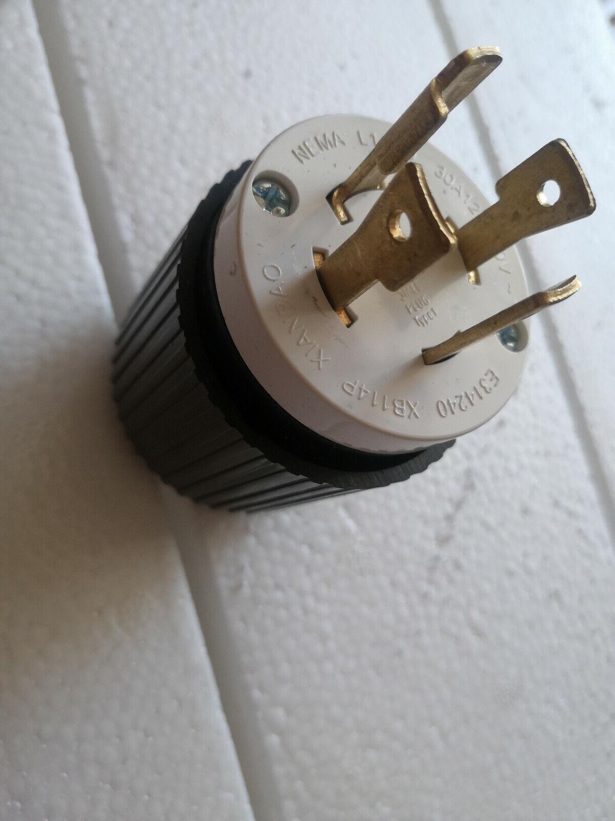 Cooper Turn Locking Plug Twist Lock L14-30p 30a 125//250v