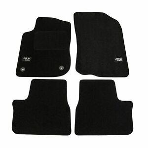 Logo-floor-mat-black-velvet-tailored-for-peugeot-2008-2013-2019