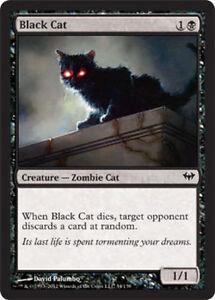 4x Black Cat MTG Dark Ascension NM Magic Regular