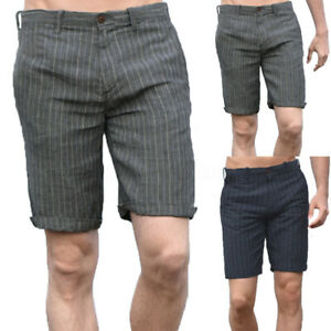 Mens-Casual-Linen-Shorts-Cargo-Trousers-100-Cotton-Sports-Work-Pants-Beach-Pant