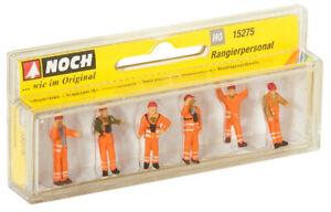 15275-Noch-Ho-Personnel-Travailleurs-Linea-Ferroviaire-6-Pieces-Echelle-1-87