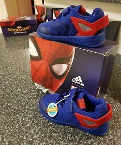 596227f5320541 adidas Spider-Man RapidaRun I Blue Red Infant Toddler Us 8.5 Uk 8 ...